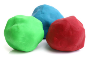 Scented play dough can be used to help activate a child's sensory system.