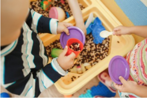 Sensory bins are an excellent sensory toy for chidren.